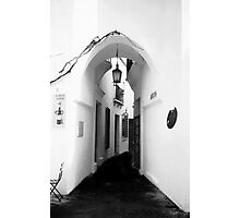 White washed walls in Barcelona Photographic Print