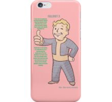 Fallout 3 Vault Boy typography iPhone Case/Skin