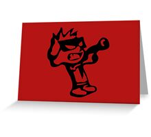 Spiff's Death Ray (Red) Greeting Card