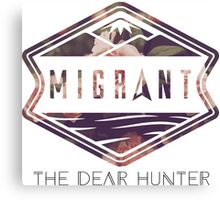 The Dear Hunter Migrant logo Canvas Print