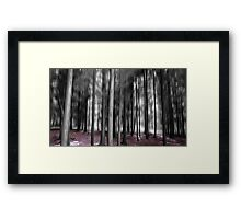 Forest Motion Blur Abstract Framed Print