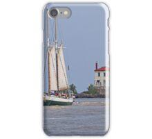 Tall Ship In Fairport Harbor iPhone Case/Skin