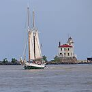 Tall Ship In Fairport Harbor by Jack Ryan