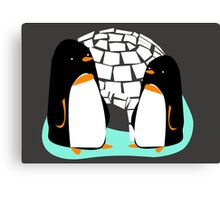 The Two Penguins Canvas Print