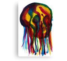 Primary Skull Canvas Print