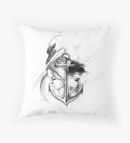 Captain swan. Throw Pillow