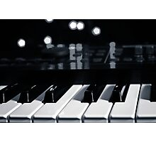 Synth Keyboard Photographic Print