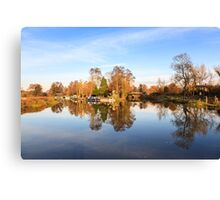 River Wey, Pyrford, Surrey Canvas Print
