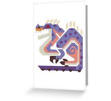 Jaggi Monster Hunter Print Greeting Card