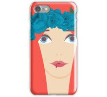 The Blue Roses of Winterfell iPhone Case/Skin