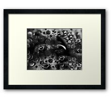 bullet holes in his mirrors Framed Print