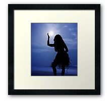 Hula Moon Framed Print