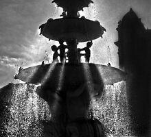 fountain of light by Nicoletté Thain Photography