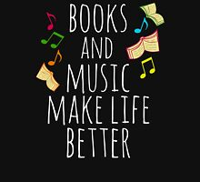 books and music make life better Womens Fitted T-Shirt