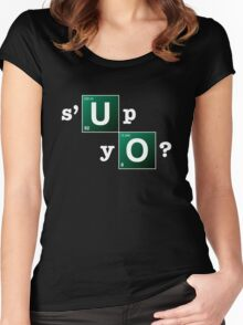 s'up yo? Women's Fitted Scoop T-Shirt