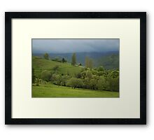 Lonely house in mountains, Romania, Transylvania Region Framed Print