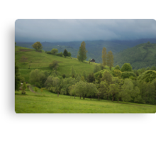 Lonely house in mountains, Romania, Transylvania Region Canvas Print