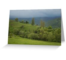 Lonely house in mountains, Romania, Transylvania Region Greeting Card