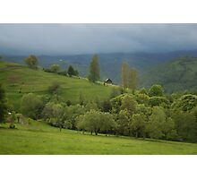 Lonely house in mountains, Romania, Transylvania Region Photographic Print