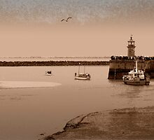 Little Ships leaving Ramsgate Harbour by Geoff Carpenter