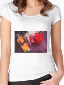 Bloody, Creepy, October-feast For The Eyes Women's Fitted Scoop T-Shirt