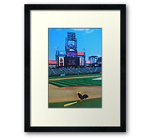 Randy was kicked off the team for hitting nothing but fowl balls….what the heck did they expect?!?!? Framed Print