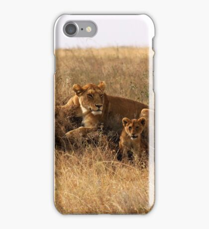 lioness and cub iPhone Case/Skin