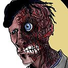 Harvey Dent a.k.a. two-face by PieterDC