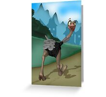 "Birthday Card - Ostrich ""No way I'm out of here"" Greeting Card"
