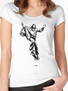 Ollie Christ (black on light tee) Women's Fitted Scoop T-Shirt