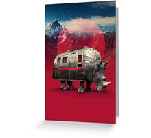Rhino Van Greeting Card
