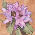 Purple Rhododendron by Ken Powers