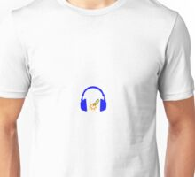 Blue Lightning Headphones Unisex T-Shirt