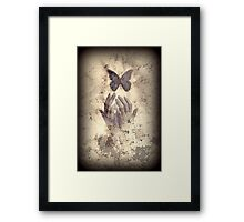 Nostalgic Butterfly Blues Framed Print