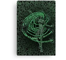 Guardian of the Data Stream Canvas Print