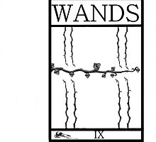 9 of Wands by Peter Simpson