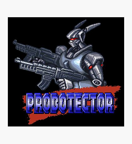Probotector - SNES Title Screen Photographic Print