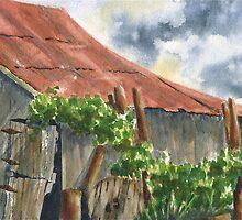 Neighbor Don's Old Barn by Marsha Elliott