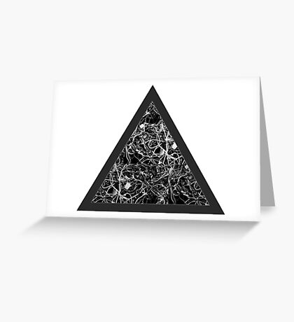 Triangle of Computer Wires Greeting Card