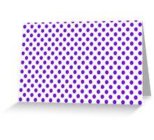 Purple Polka Dots Greeting Card