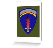 United States Army Europe Greeting Card
