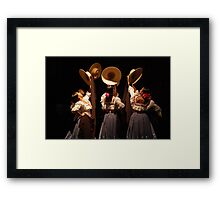La Marinera Framed Print