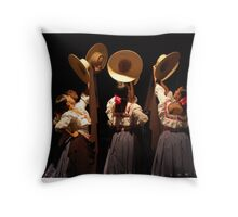 La Marinera Throw Pillow