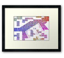 Thinking Mottled Blocks Framed Print