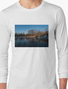 Blue Serenity - Early Morning at a Little Pond off Lake Ontario in Toronto Long Sleeve T-Shirt