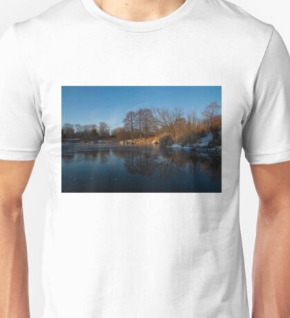 Blue Serenity - Early Morning at a Little Pond off Lake Ontario in Toronto Unisex T-Shirt