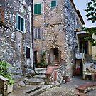 Walking in Gavignano Italy by Warren. A. Williams