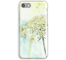 Queen Anne's Lace Watercolor Sketch iPhone Case/Skin