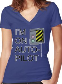 I'm On Auto-Pilot (MechJeb) - KSP Women's Fitted V-Neck T-Shirt