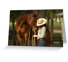 """Face Time""- Horse and Rider Greeting Card"